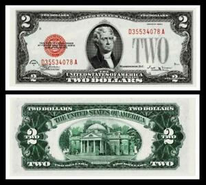 1928-E $2 Red Seal United States Note~~ BRIGHT & CRISP ~ UNCIRCULATED