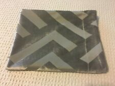 """Z Gallerie  Pillow Cover (35 1/2""""x 20"""") Silver/ Grey/taupe Geometric Design"""
