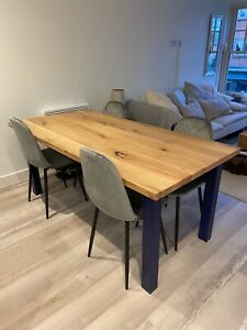 Custom Solid Oak Farmhouse Kitchen Table