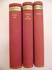 Goethe.Theaterstücke,Gedichte,Dichtung und Wahrheit. 3 Bände.