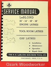 "LEBLOND 12""14""16""18"" Engine Metal Lathe Operator Parts Manual 0428"