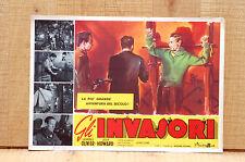 GLI INVASORI fotobusta poster L.Howard L.Olivier 49th Parallel War Guerra H59