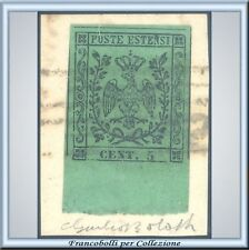 Antichi Stati 1852 Modena n. 1 Usato Frammento Bolaffi