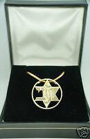 MACABI 5 Metal Kabbalah charm 14k gold charm pendant