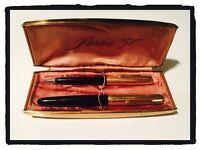 Penna Stilografica Fountain Pen e Matita Pen Set Vintage PARKER 51 AEROMETRIC