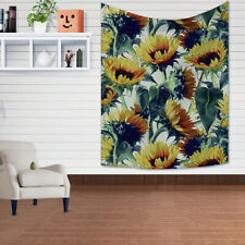 Sunflowers Field Blooms Bedroom Living Room Wall Hanging Tapestry Yellow
