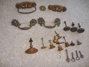 Lot of Vintage & Antique Pieces of Furniture Hardware - Drawer Knobs & Pulls