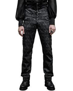 Devil Fashion Mens Obscura Trousers Pants Black Steampunk VTG Gothic Victorian