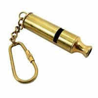 Key Chain Nautical Whistle Brass Key Ring Collectible Gift Item Golden handmade