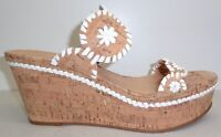 Jack Rogers Size 10 M LEIGH Cork White Leather Wedge Sandals New Womens Shoes