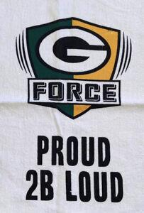 GREEN BAY PACKERS Lambeau Field NFL SGA Towel Rag G Force Proud 2B Loud