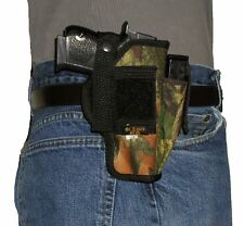 USA Mfg Camo Belt & Hip Holster Extra Mag Holder EAA Witness 9mm 10 mm 45 40 38