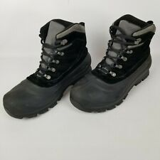 Sorel Cold Mountain Boots Suede Black Thinsulate Mens Size 10.5 NM1435-010