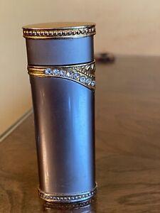 Ladies Vintage Crystal Decorated Butane Lighter