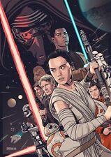 Star Wars Force Awakens Alternative Movie Poster by Amien Juugo No. /5 NT Mondo