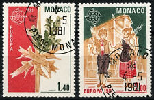 Monaco 1981 SG#1488-9 Europa, Ceramics Cto Used Set #D40653