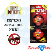 Pack of 2 x Ant Killer Trap Ant Stop Bait Stations Destroy Ant Nest Home Defence