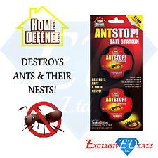 Home Defence Ant Stop! Killer Bait Station Antstop Nest Killer Trap Pack of 2