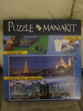 PUZZLE MANIAKIT  1000 X 2 CLEMENTONI  CON TAPETE Y COLA PANORAMA Y NEW YORK