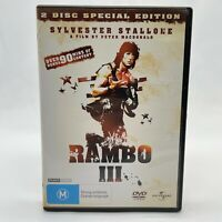 Rambo 3 (DVD, 1988) Regions 2&4 With Sylvester Stallone In Like New Condition