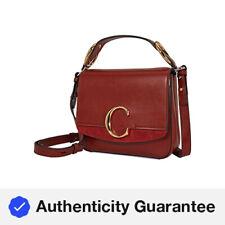 Bolso de hombro cuadrado pequeño Chloe C-Sepia Marrón CHC19WS199A3727S