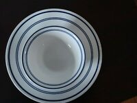 CORELLE CLASSIC CAFE BLUE  ONE DINNER PLATE & ONE  SOUP/CEREAL BOWL