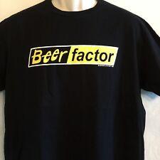 Beer Factor Spoofs T-Shirt Mens Xl Black Graphic Tee Crewneck Parody Humor