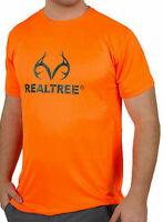 Realtree Mens Crew Neck Short Sleeve Moisture Wicking T-Shirt Orange - XL