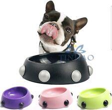 Plastic Round Pet Dog Puppy Cat Food Feeding Feeder Dish Dinner Bowl
