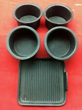 Set 4 97-02 Ford Navigator Expedition Console Cup Holder Rubber Insert With Mat