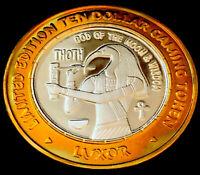 .999 $10 Silver Strike • Luxor Casino •Vegas • Thoth, God ot the Moon & Wisdom