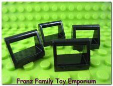 New LEGO Lot of 4 Black 1x2 Tile w/ Handle Brick Pieces Batman Star Wars Parts