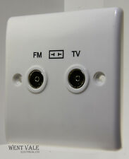 BG Nexus - 860-01 - 2 Gang TV/FM Diplexer Socket Outlet New
