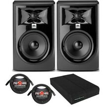 JBL 305P MkII BUNDLE Powered Studio Monitor Speaker PAIR w/ Pads + XLR Cables