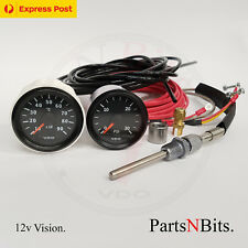 VDO 12v PYROMETER PYRO EGT GAUGE KIT AND 30 PSI BOOST GAUGE VDO LINE KIT EXPRESS
