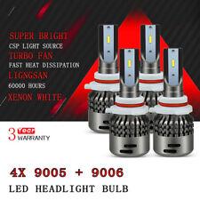 FOR GMC SIERRA 1500 2500 3500 HD 2001-2006 9006 + 9005 LED HEADLIGHT BULB KIT D7