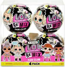 LOL Surprise Remix Fan Club 4 Pack 4 Re-released Dolls each with 7 Surprises NEW