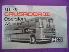 1979 Mc-9 Crusader Ii Bus Operators Manual