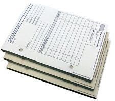 8x Rechnungsblock / Quittung Bargeschäft SD A6  mit Durchschlag gelocht (22234)