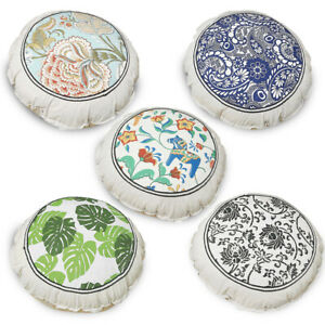 Round Cushions Printed Seat Cushion Sofia Pillow Insert Included 55x55cm
