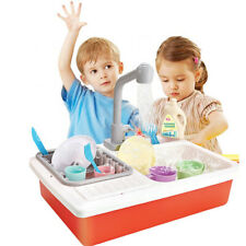 Kids Play Sink Pretend Kitchen Wash Up Running Water Automatic Water Role Play
