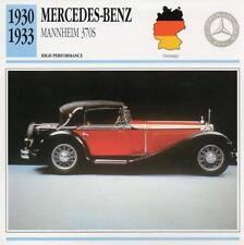 1930-1933 MERCEDES BENZ MANNHEIM 370S Classic Car Photo/Info Maxi Card