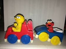 SESAME STREET BIG BIRD IN RED CAR & ELMO IN BLUE CAR BAKERY CRAFT CAKE TOPPER