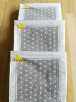 60 x Clayre&Eef Servietten Papier Papierservietten Kleine Sterne Beige Weiß Karo