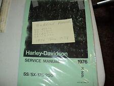 1976 HARLEY AERMACCHI  SS SX 250CC/ 175CC   SERVICE MANUAL 99490-76   AMF