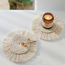 New listing 1 Pcs Originality Hand-Woven Cotton Rope Coaster