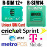 RSIM 14 12+ 2019 R-SIM Nano Unlock Card for iPhone XS/X/8/7/6/6s/5 iOS 12 13 Lot