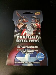 2016 Upper Deck Captain America Civil War Super Pack 216 ct Sealed Case MARVEL