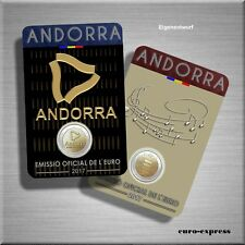 "2 x 2 Euro Gedenkmünze Andorra 2017 BU ""Pyrenäen+Hymne"" 2 x Coincard - VVK"