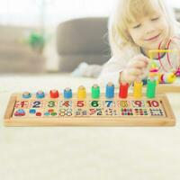 2-4 Years Old Kids/Baby Developmental Wooden Blocks Stack Math Learn Toy